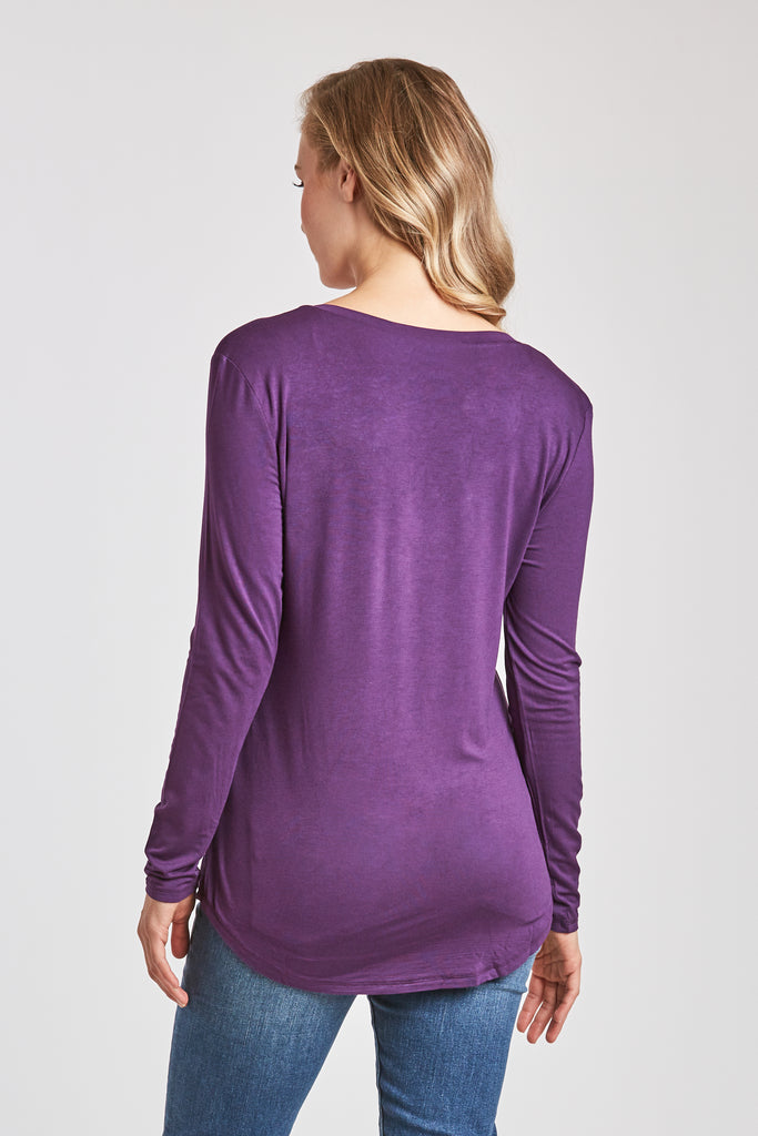 MOLLY VNECK TEE PURPLE