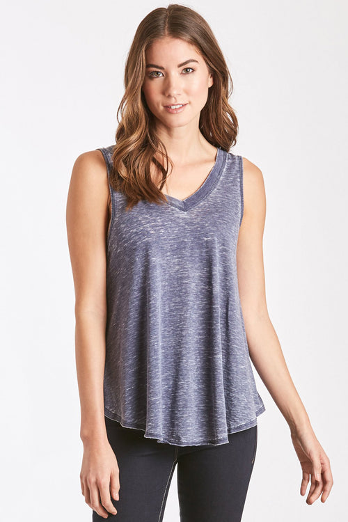 ALLISON BURNOUT V-NECK NAVY
