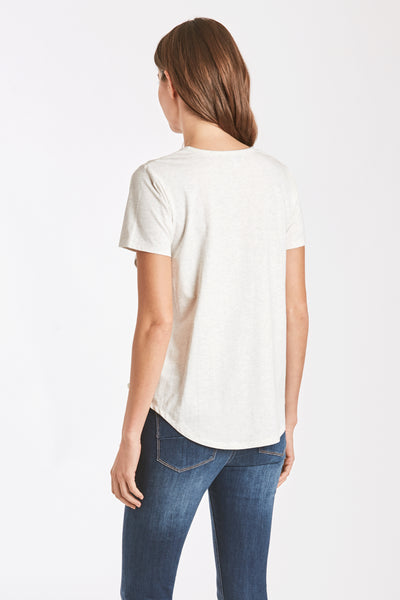 CELLI SIDE LACE TEE OATMEAL