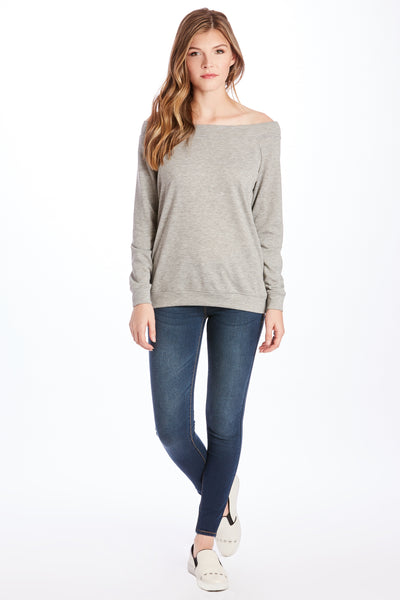 MARY OFF SHOULDER HEATHER GREY