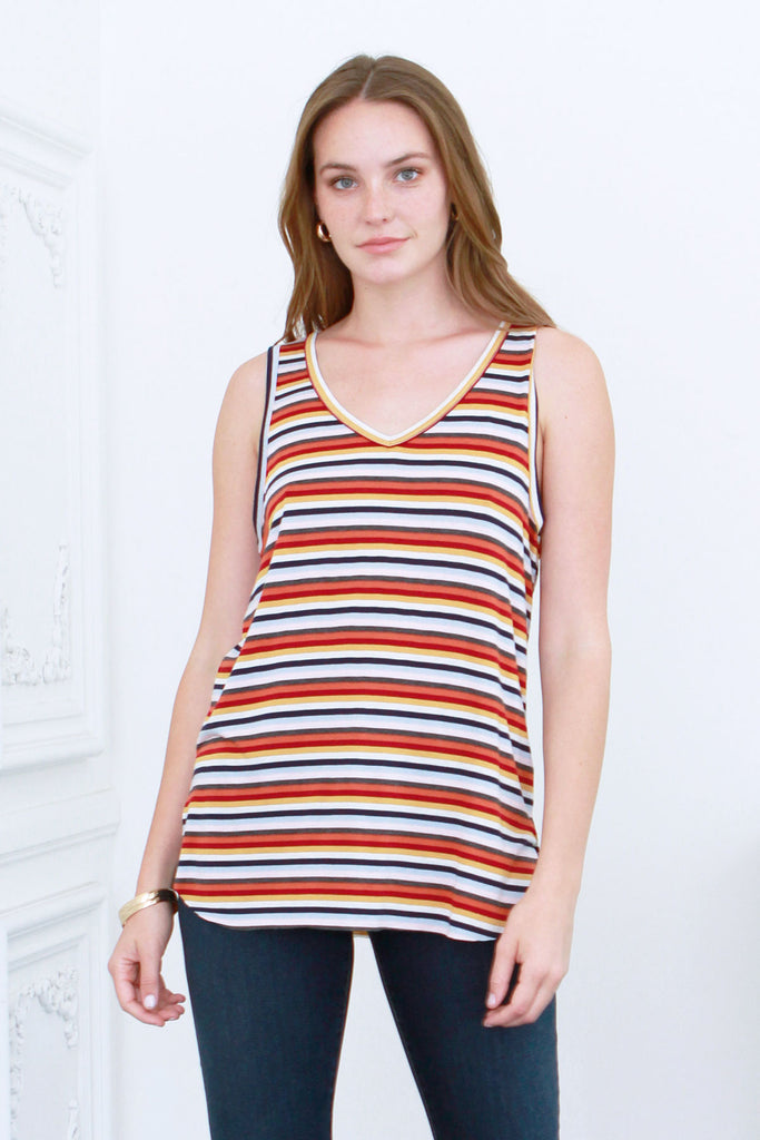 TESS TANK RETRO STRIPE