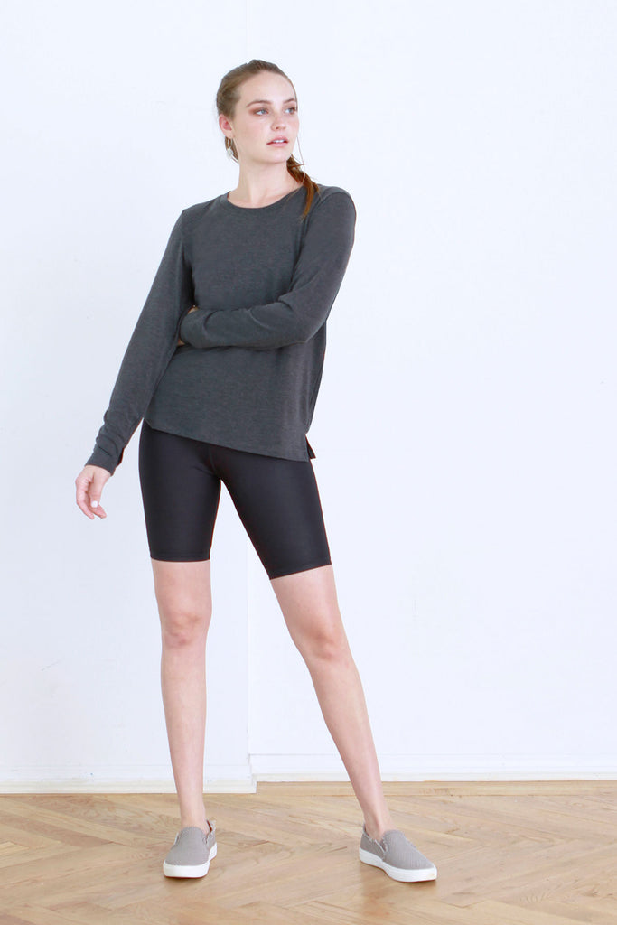 AUDREY OPEN BACK LONG SLEEVE BLACK