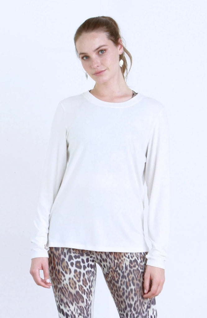 AUDREY OPEN BACK LONG SLEEVE WHITE