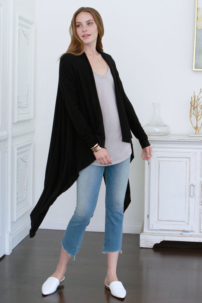 FAITH BRUSHED HACCI CARDIGAN BLACK