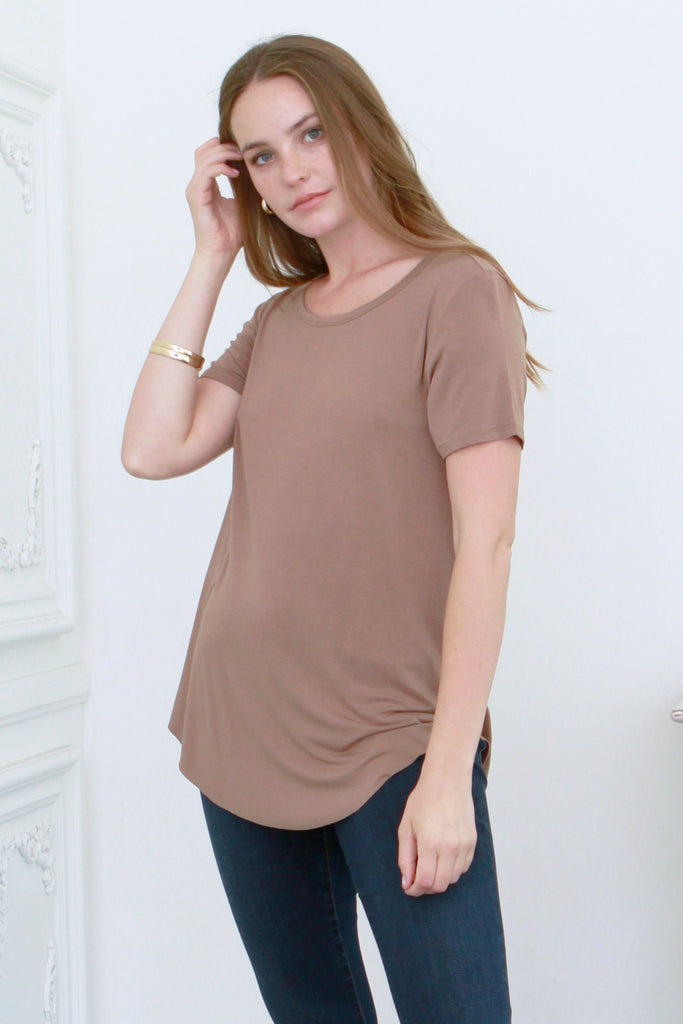 JULIE CREW NECK TOFFEE