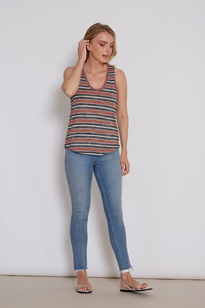 RIONA UMBER STRIPES
