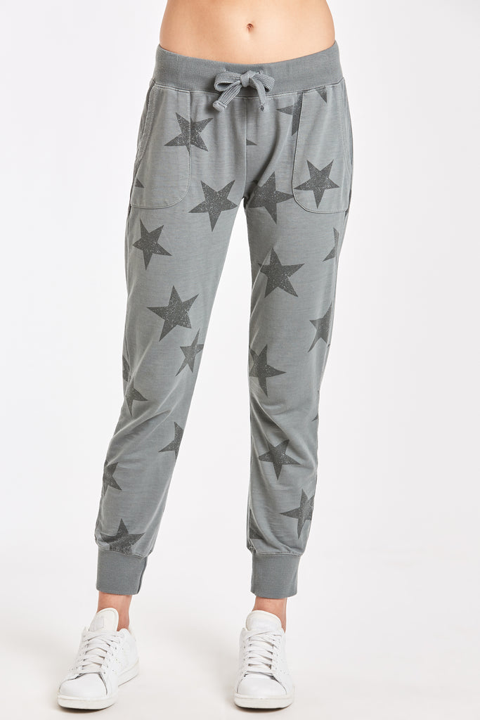 ANGELA STAR PRINTED BURNOUT JOGGER