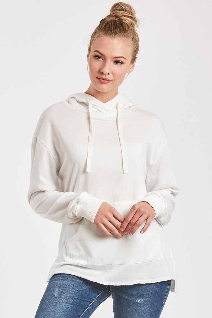 MACKENZIE FRENCH TERRY SWEATSHIRT WHITE