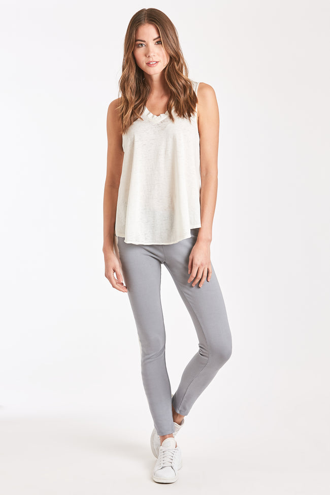 GINA LEGGING GREY-WHITE TIE DYE