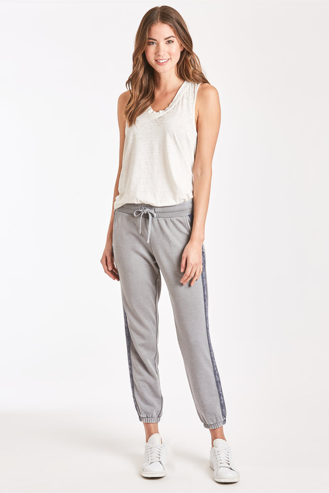 LANA BURNOUT ATHLETIC PANT HEATHER GREY