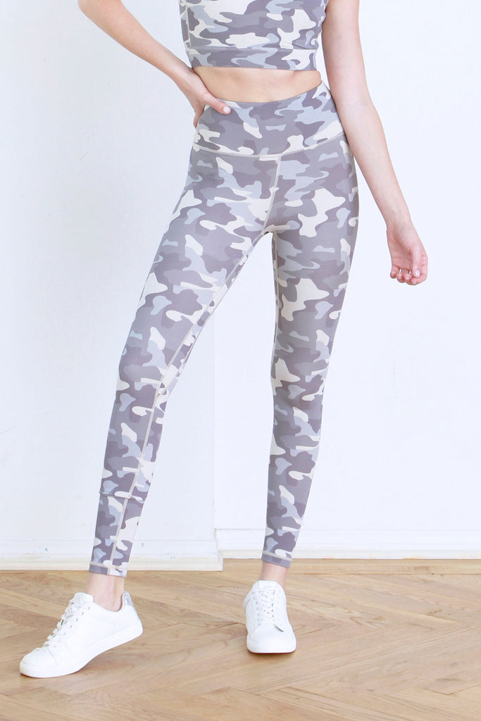 ANDIA PRINTED LEGGINGS DARK GREY CAMO