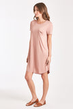 SAMANTHA DRESS DUSTY ROSE