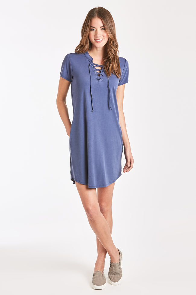 TABATHA LACE DRESS INDIGO