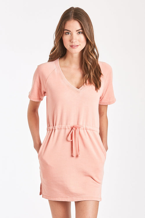 ADA BURNOUT RAGLAN DRESS BLUSH