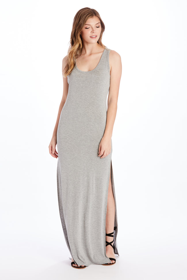 ARIELLE MAXI DRESS HEATHER GREY