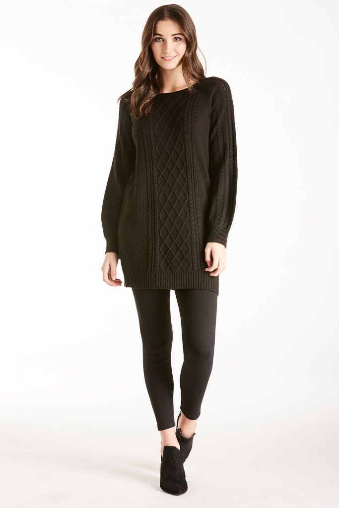MARGO SWEATER DRESS BLACK