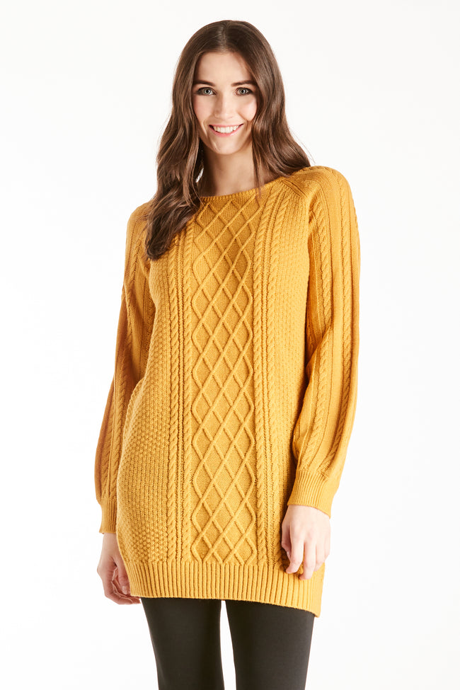MARGO SWEATER DRESS  MUSTARD