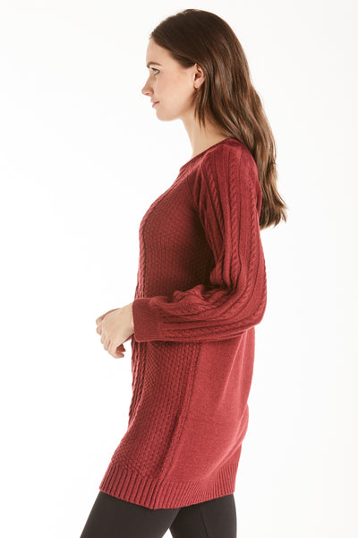 MARGO SWEATER DRESS WINE