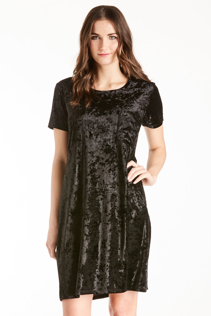 ALEX VELVET DRESS BLACK