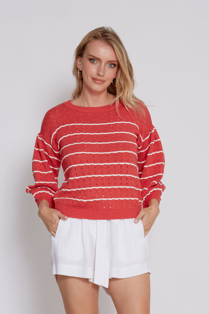 SEA WILD ROSE STRIPES