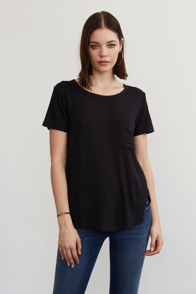 SAM CREW NECK TEE BLACK