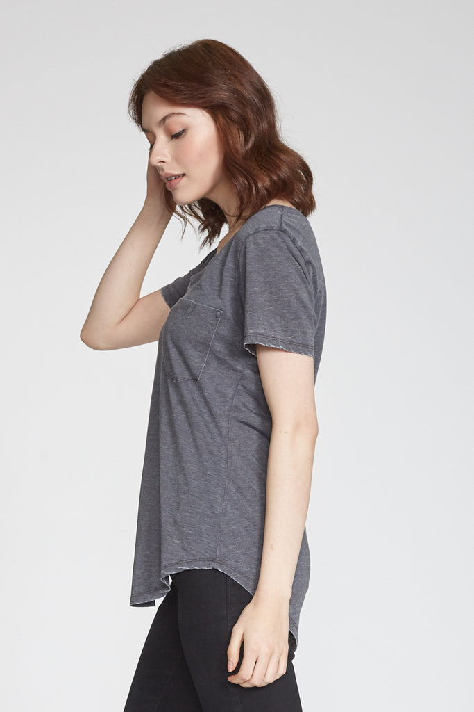 PHOENIX BURNOUT VNECK CHARCOAL