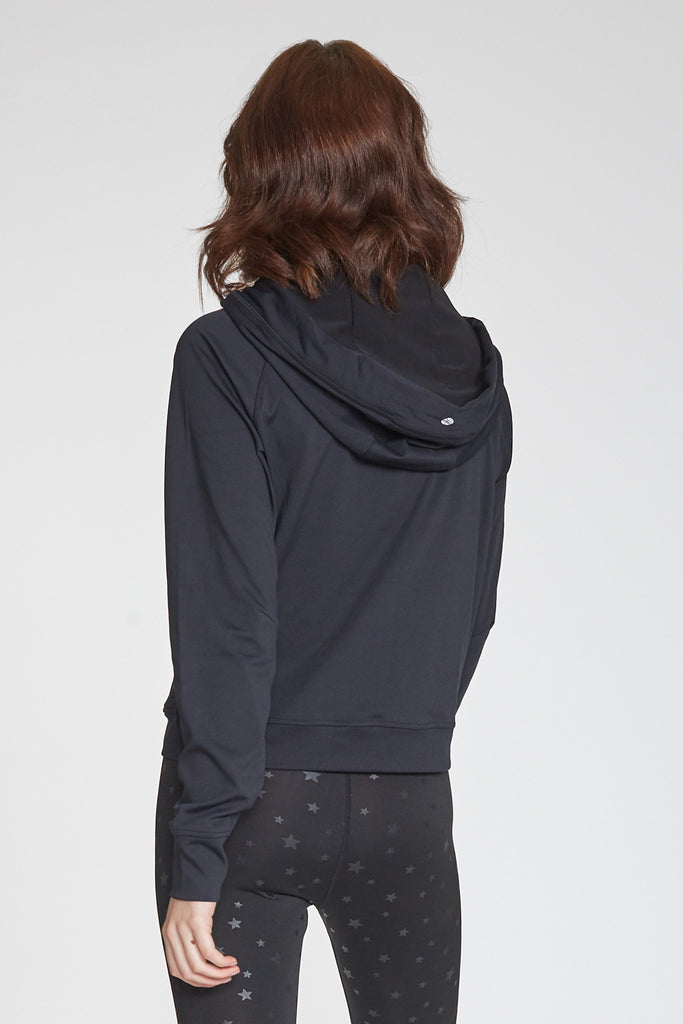 ERIN SECOND SKIN PERFORMANCE HOODED JACKET BLACK