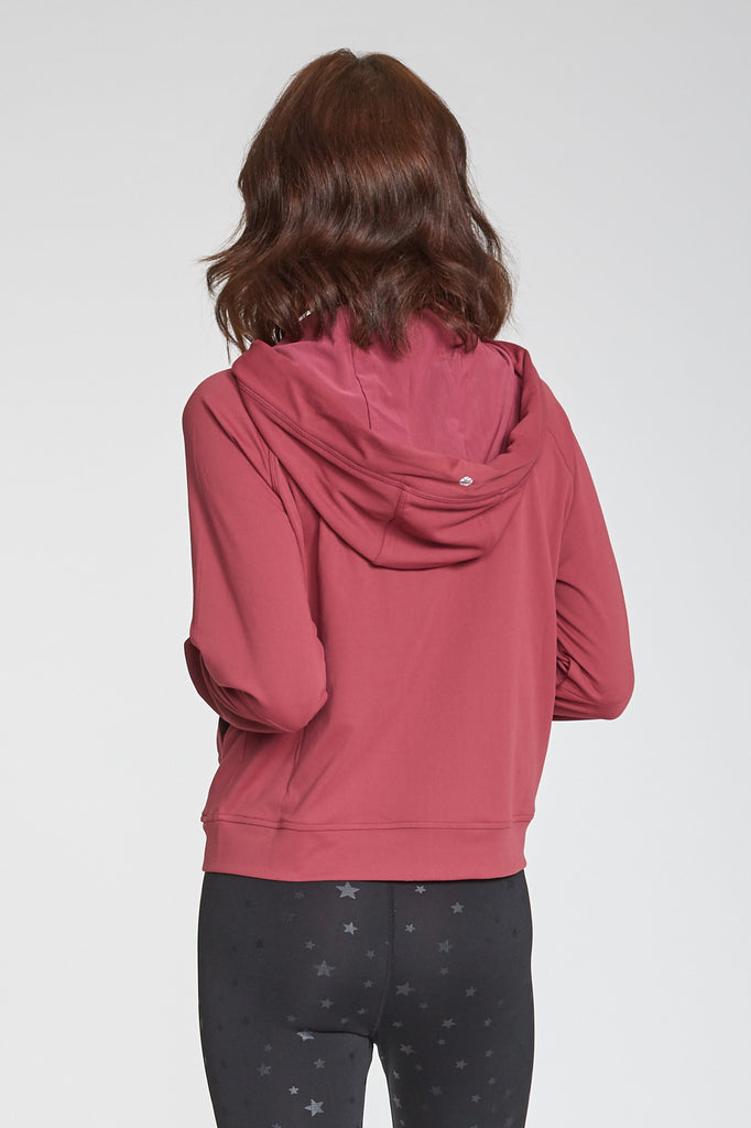 ERIN SECOND SKIN PERFORMANCE HOODED JACKET WINEBERRY