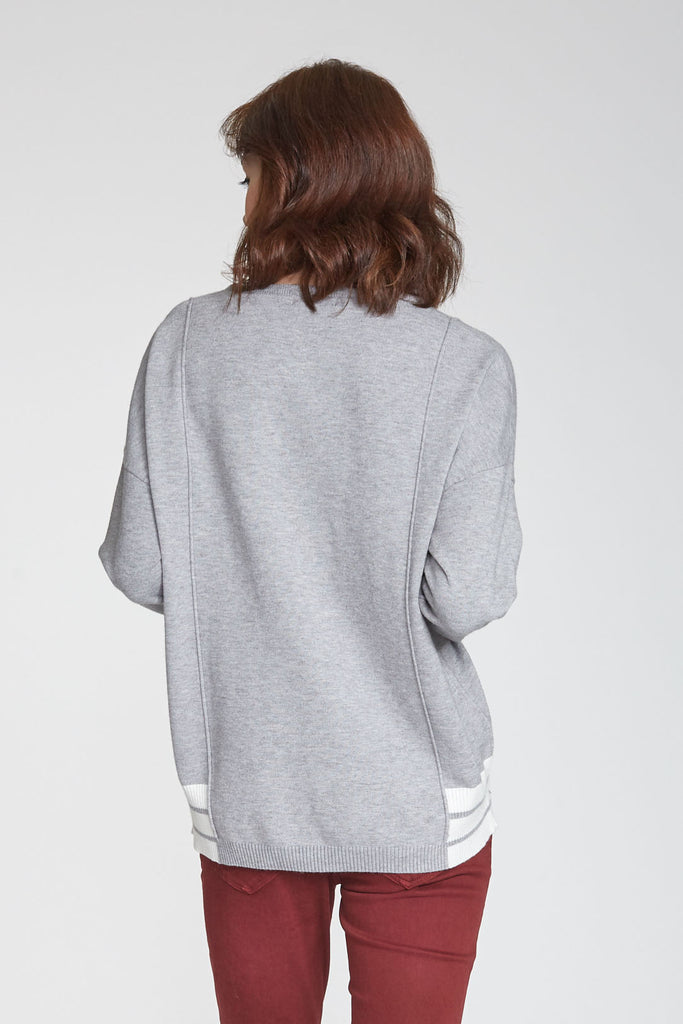 BLAKE CREW NECK SWEATER HEATHER GREY