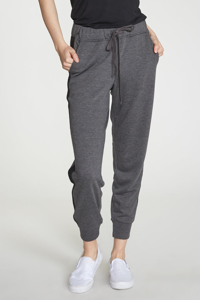 ANGELA JOGGER W/ PKT HEATHER CHARCOAL