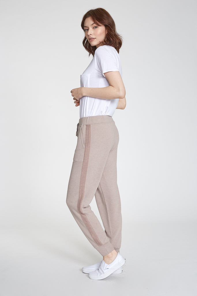 ANGELA JOGGER W/ PKT HEATHER TAN