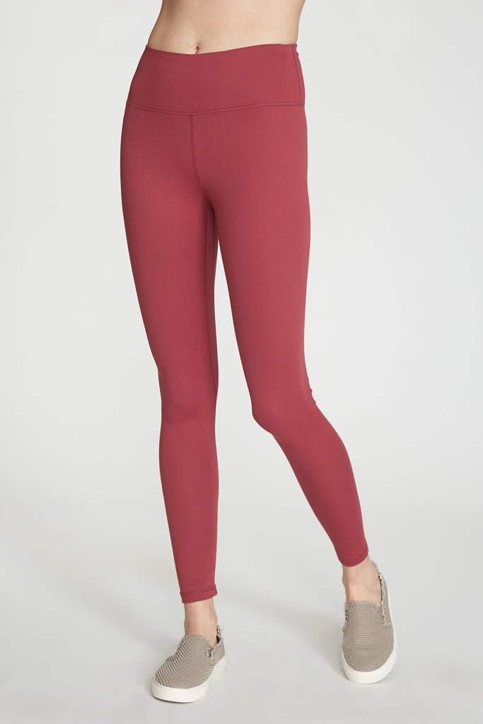 ANDIA SECOND SKIN PERFORMANCE LEGGINGS WINEBERRY