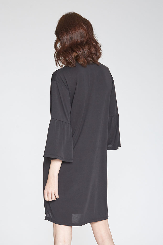 MARA BELLE SLEEVE DRESS BLACK