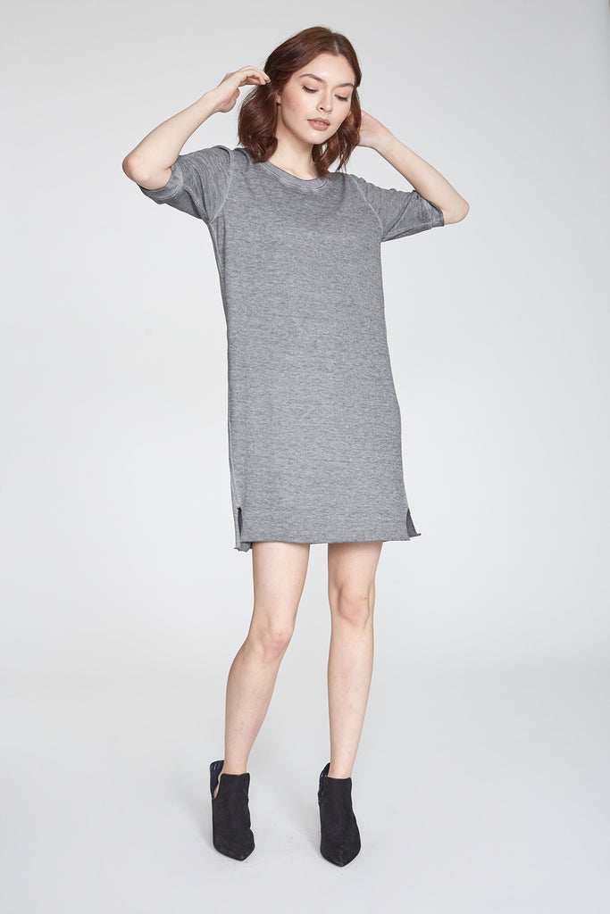 GIANNA VINTAGE WASH DRESS HEATHER GREY