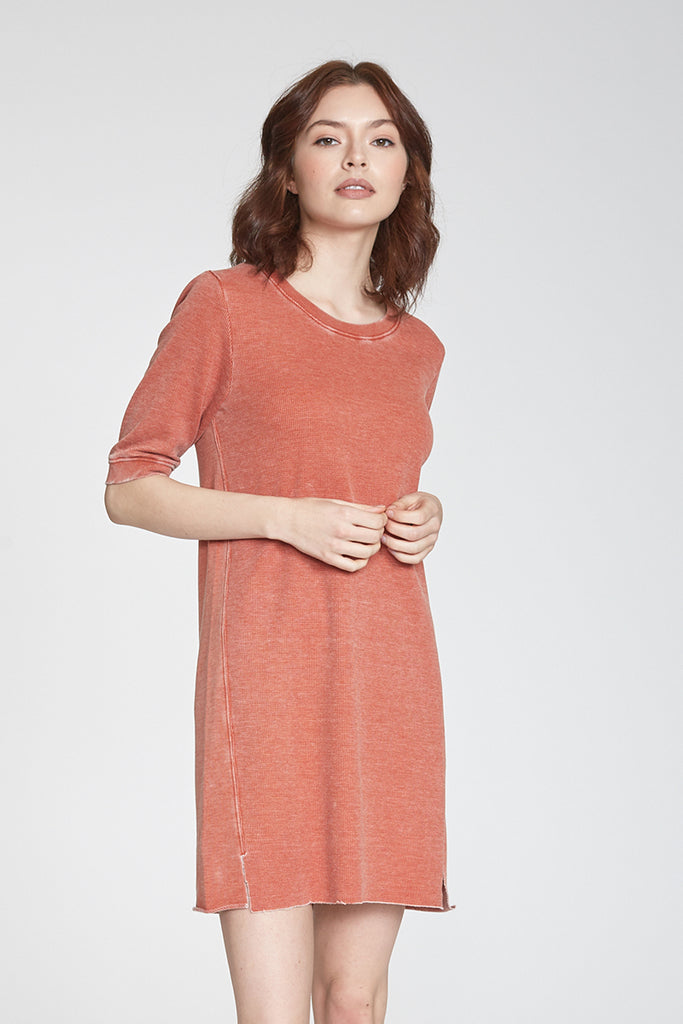 GIANNA VINTAGE WASH DRESS RUST