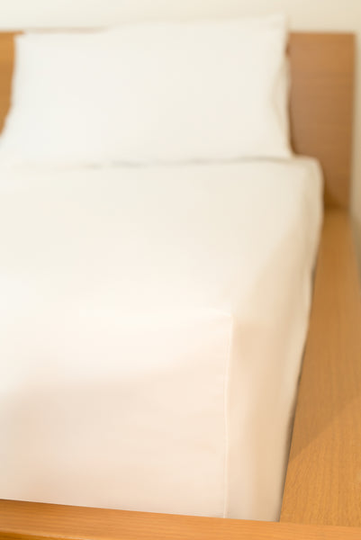 Single Fitted Sheet WHITE