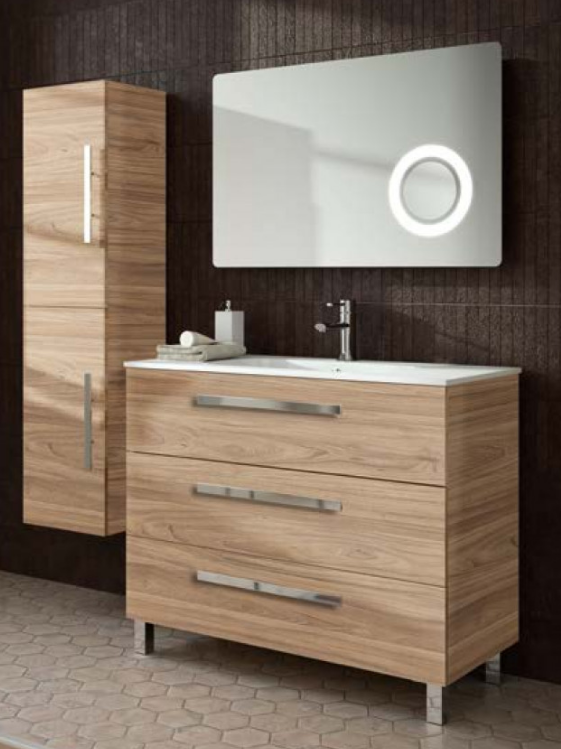 FUSSION CHROME 3 DRAWER VANITY