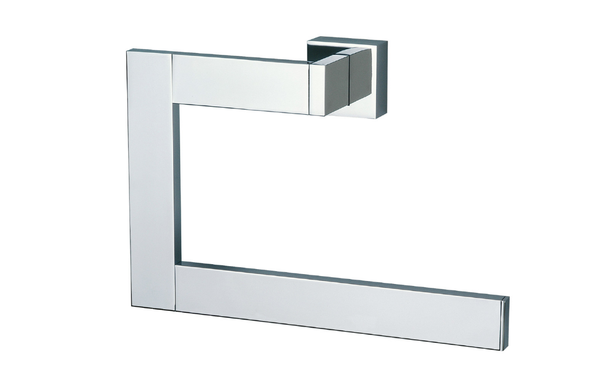 BAÑO DISEÑO QUAX COLLECTION LARGE CHROME TOWEL RING