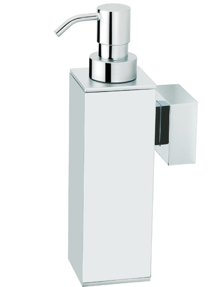 BAÑO DISEÑO QUAX COLLECTION CHROME WALL SOAP DISPENSER