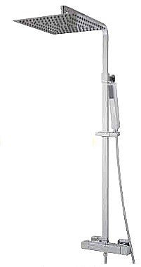 MZ  CUBIC SQUARE (ULTRA THIN) COLUMN SHOWER PANEL