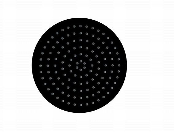 "MZ 12"" ROUND ULTRA THIN MATT BLACK SHOWER HEAD"