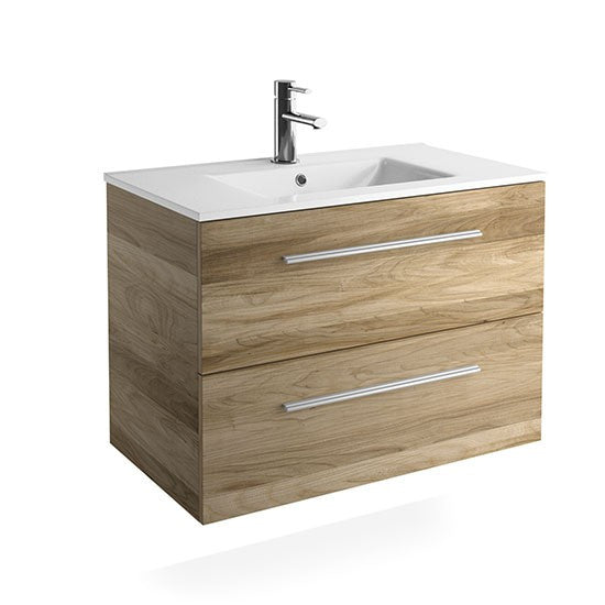 FUSSION CHROME 2 DRAWER VANITY