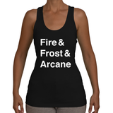 Mage Women's Racerback Tank (White Text)