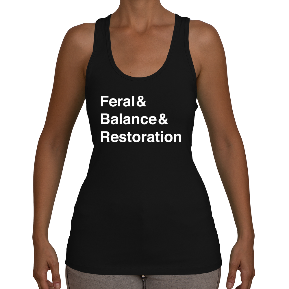 Druid Women's Racerback Tank Top (White Text)