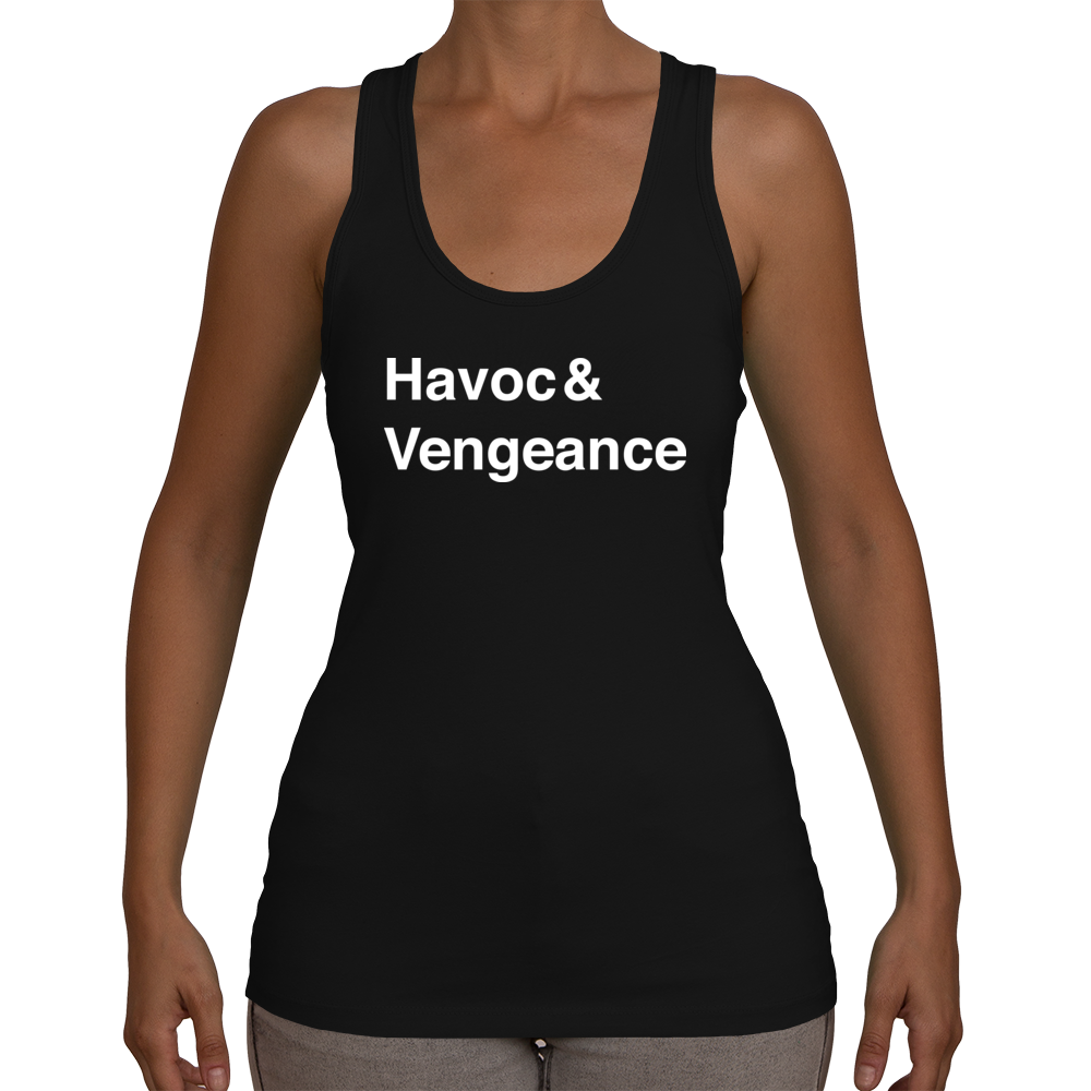 Demon Hunter Women's Racerback Tank Top (White Text)