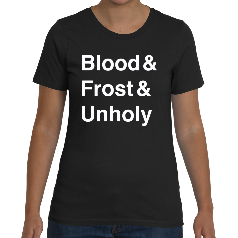 Death Knight Women's T-Shirt (White Text)