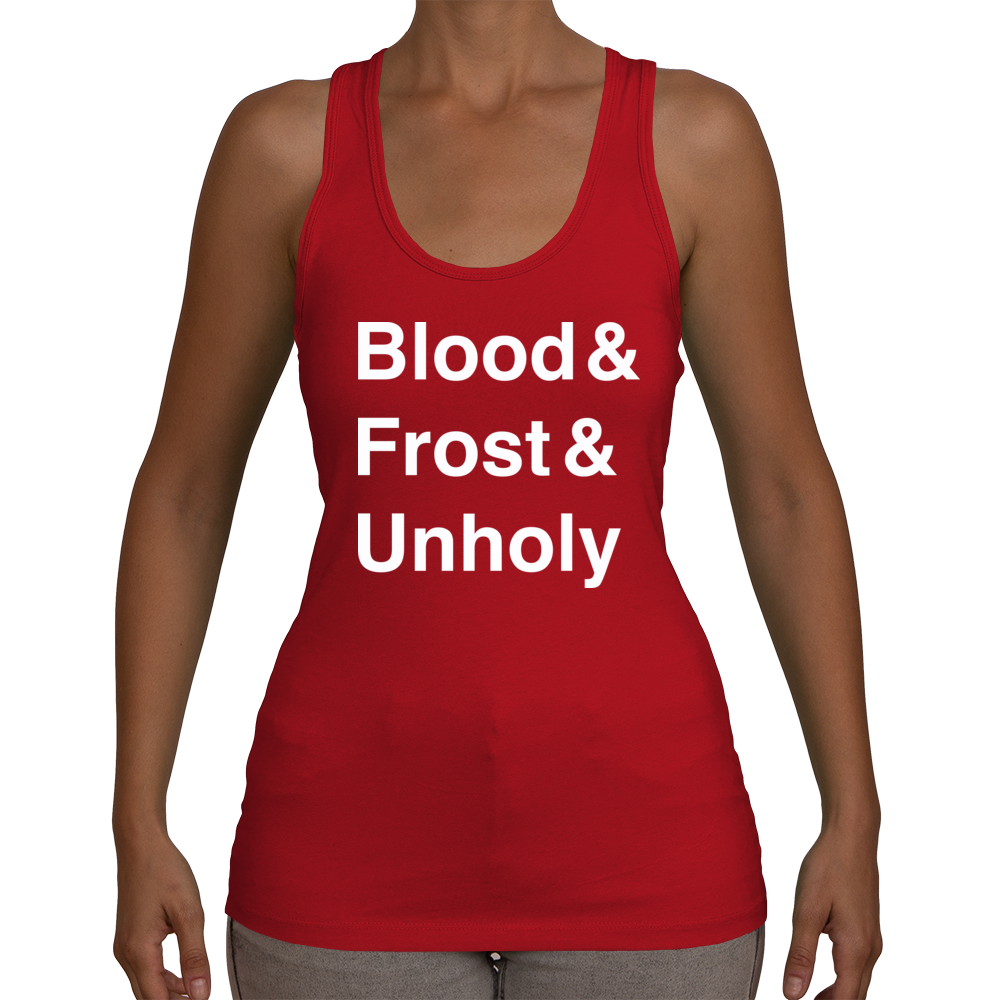 Death Knight Women's Racerback Tank Top (White Text)