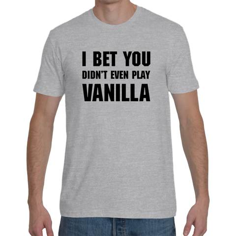 Vanilla Men's T-Shirt (Black Text)