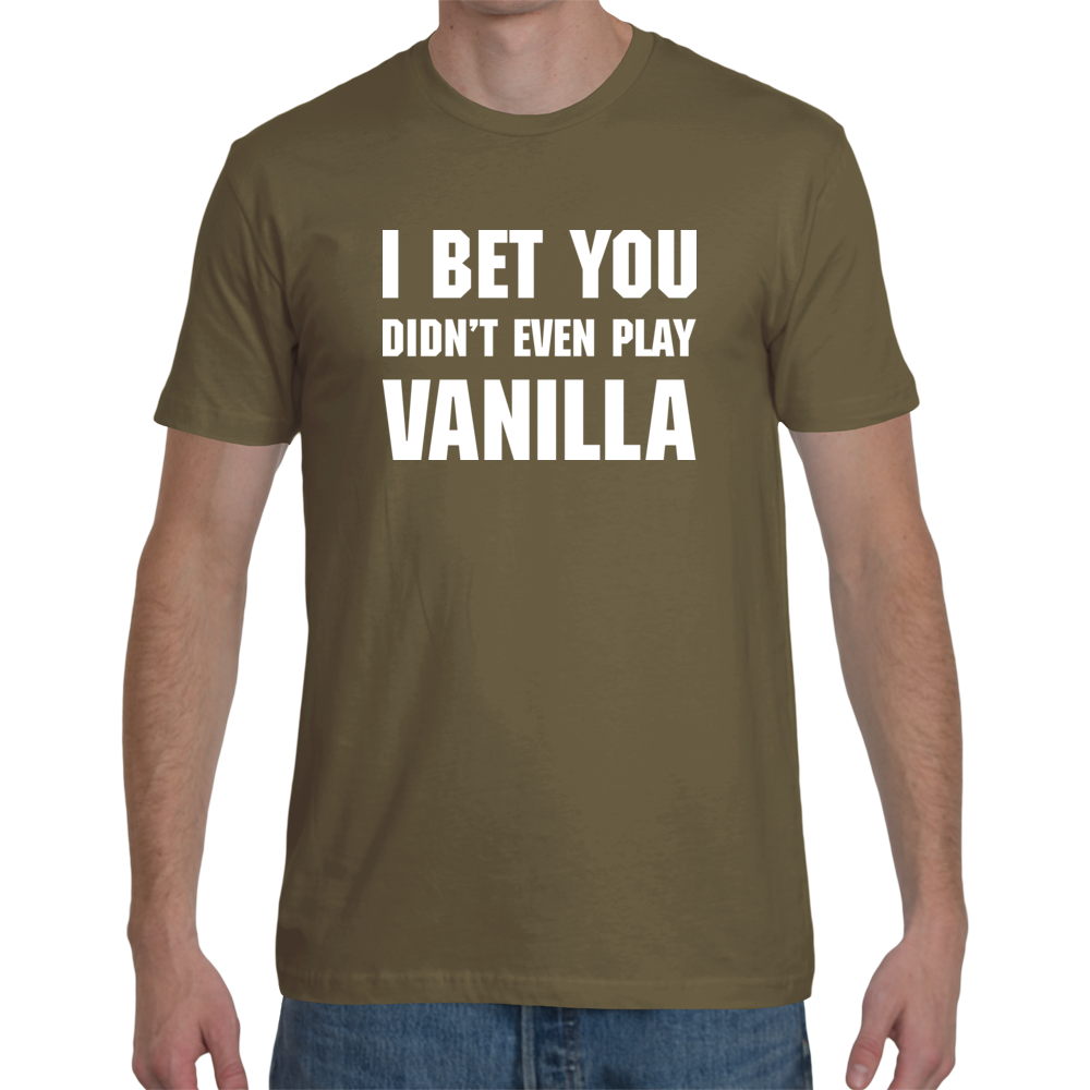 Vanilla Men's Tee (White Text)