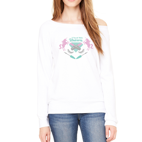 I Need This Unicorn Pastel Beauty Emblem Sweatshirt